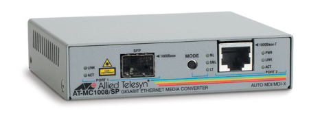 AT MEDIA CONVERTER (AT-MC1008/SP) - 1000MBPS - SLOT SFP S/FUENTE